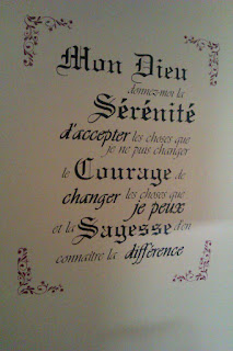 Serenity Prayer Vinyl Wall Decal