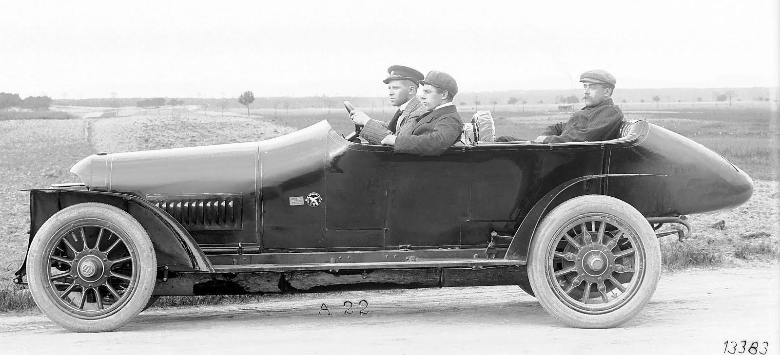 The Prinz-Heinrich Car. Mercedes. 1910 ~