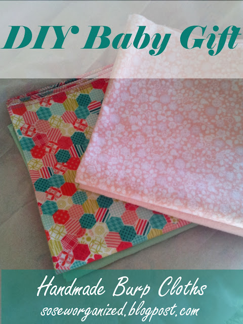 DIY Baby Burp Cloths - a quick, inexpensive baby gift for a new mom-to-be!