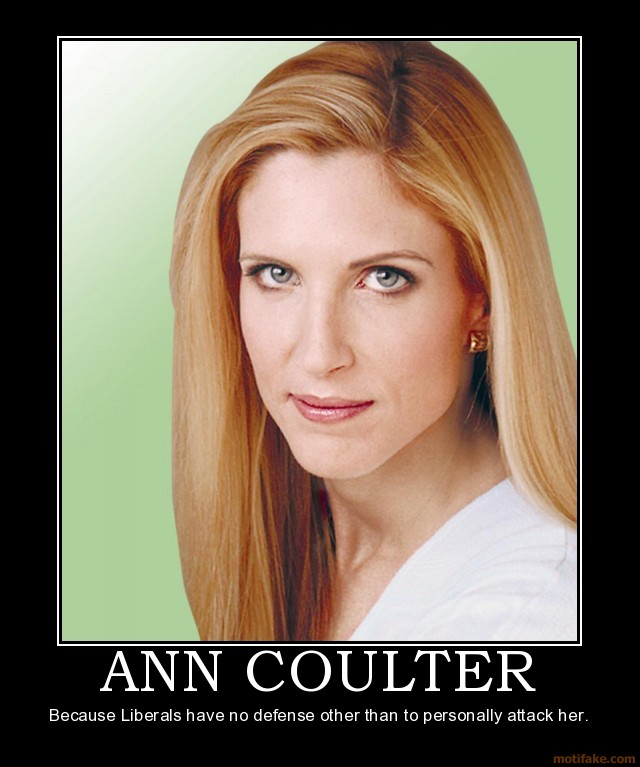 coulters girls Ann coulter unleashed a two-hour twitter rant against delta airlines because  she says delta moved her pre-booked seat for no reason.