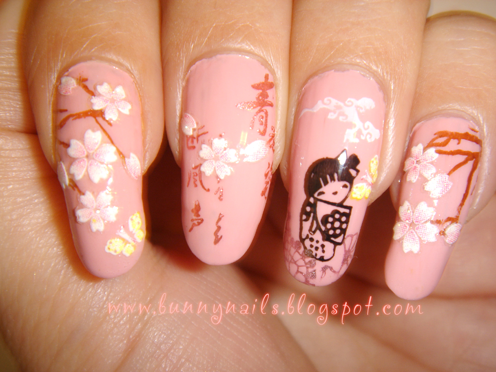 Bunny Nails: Romantic Sakura