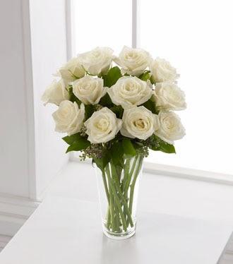 jual rangkaian bunga mawar white rose