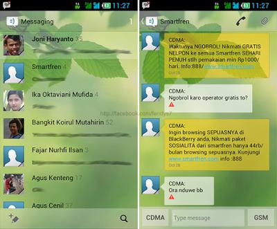 Merubah Tampilan SMS Lebih Keren di ANDROID