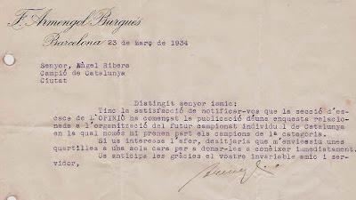 Carta de Francesc Armengol a Ribera