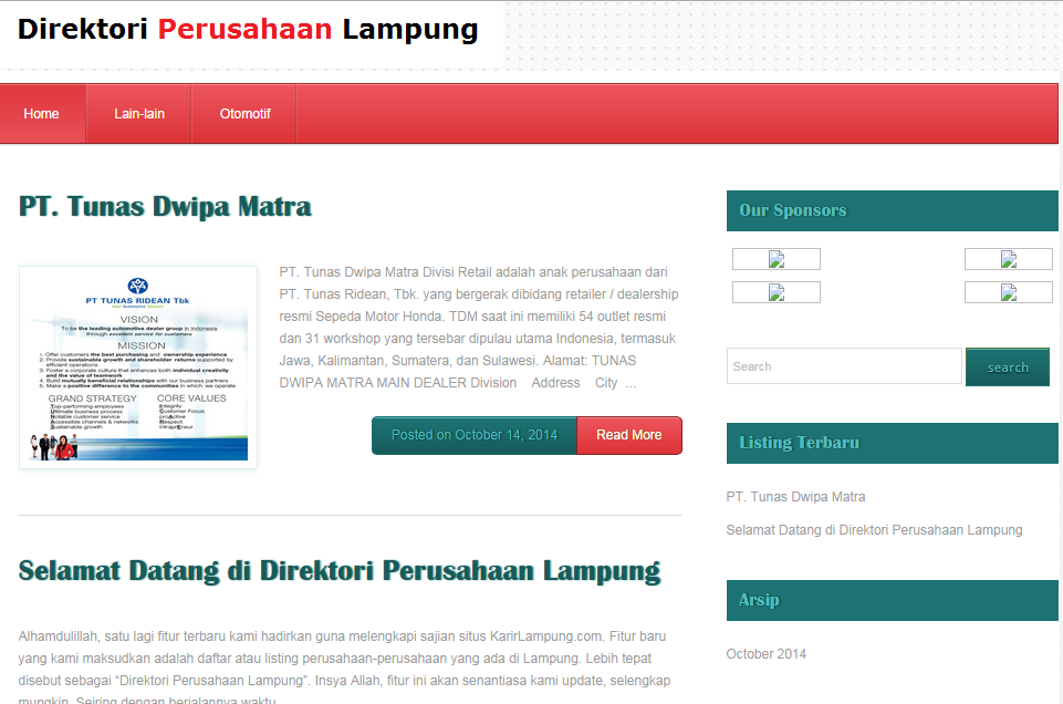 Portal Direktori Perusahaan di Lampung