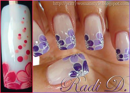 Урок за Nail art декорация Две цветенца