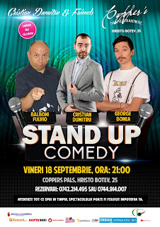 Coppers Pub Stand-Up Comedy Vineri 18 Septembrie