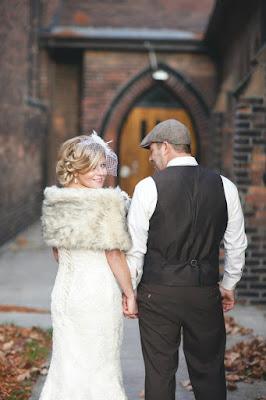 Faux-Fur bridal Wrap