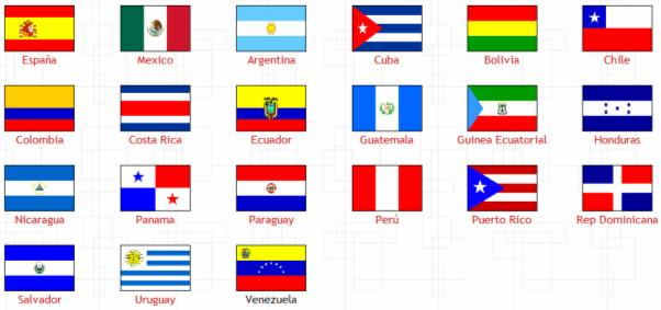 21 Spanish-speaking Countries Flags
