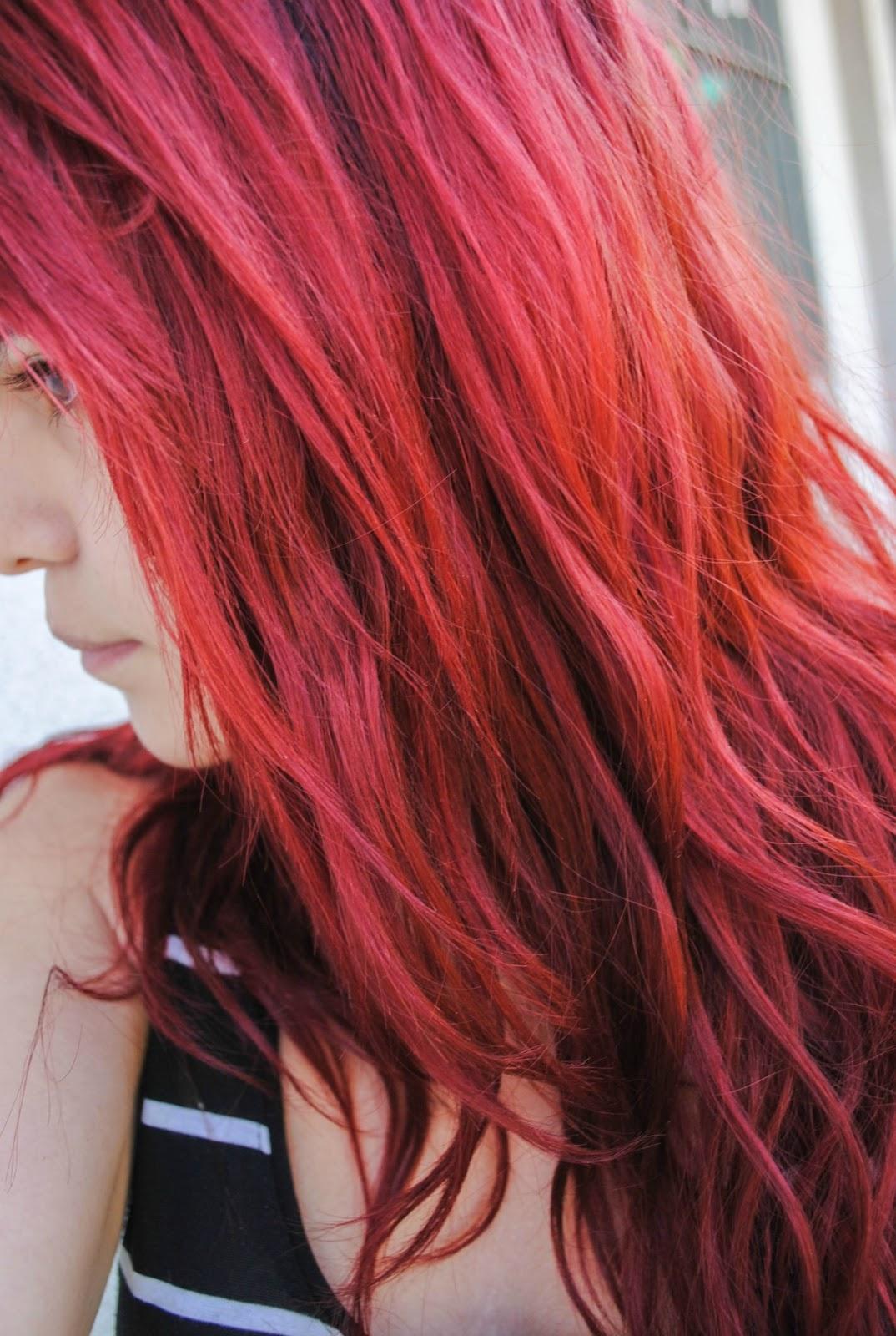 fuera de masaje cabello rojo
