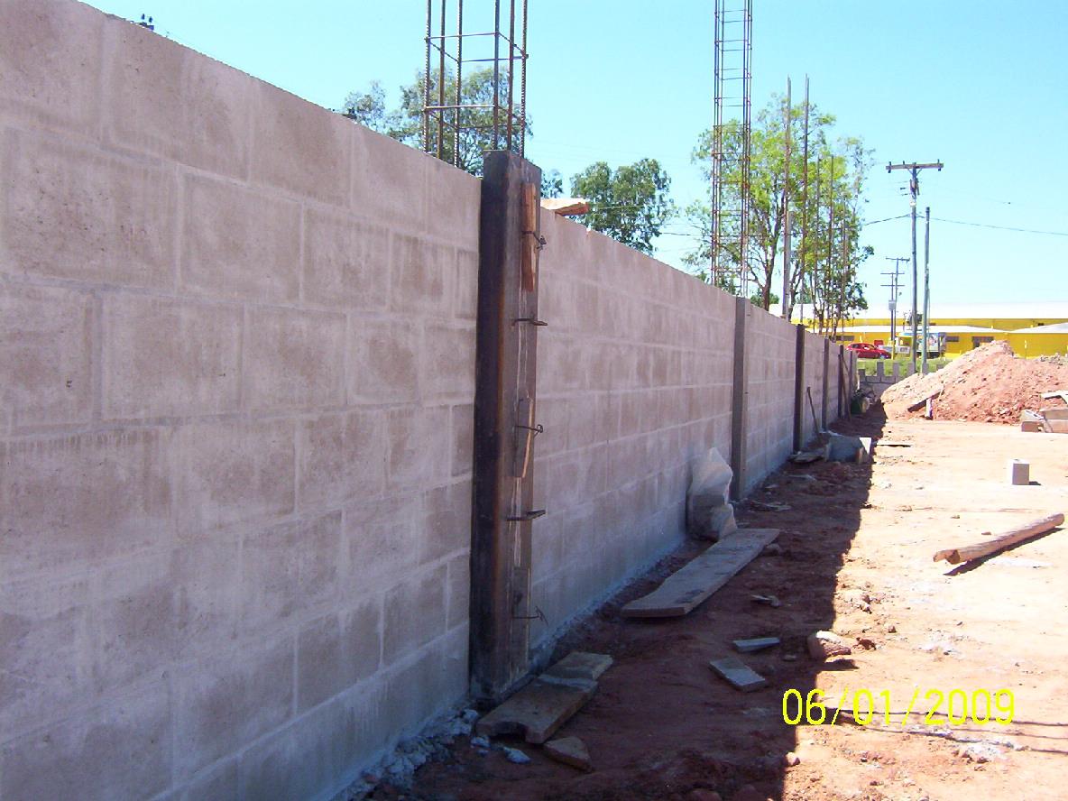 Clube do concreto como fazer um muro com blocos de concreto for Muro de concreto armado