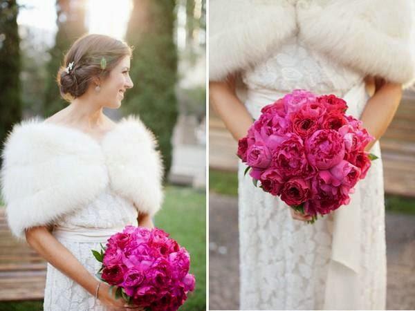"""Hoa cưới đẹp 1 màu """" ton sur ton"""" không hề đơn điệu5"""