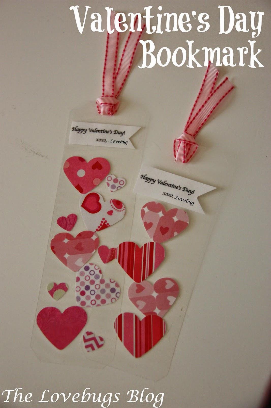 Candy Free Valentine's Bookmark
