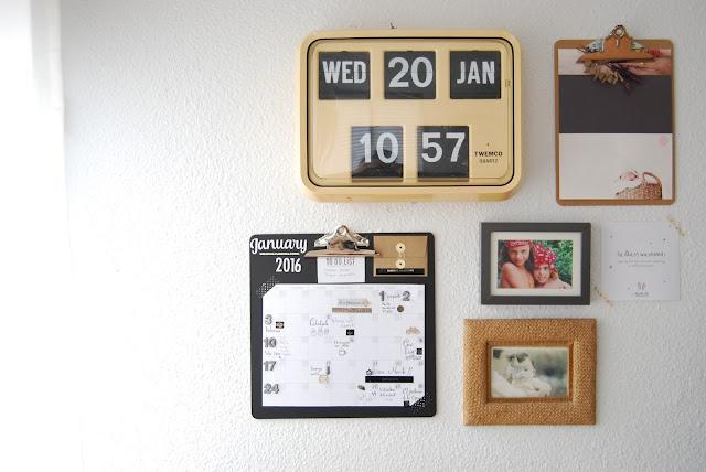 planificador mensual con clipboard scrapbook