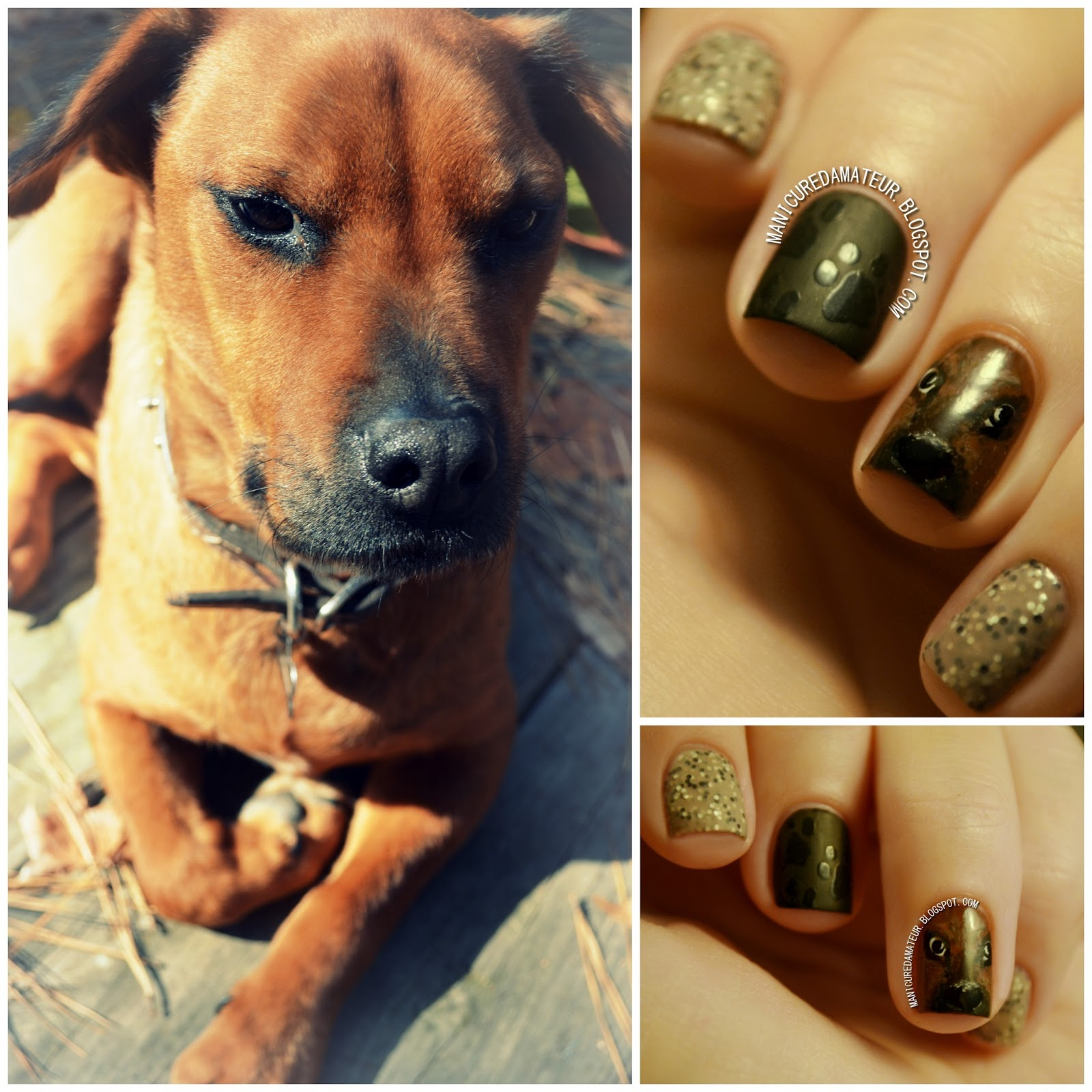 The Manicured Amateur: Free-Hand Dog and Paw Print Nail Art