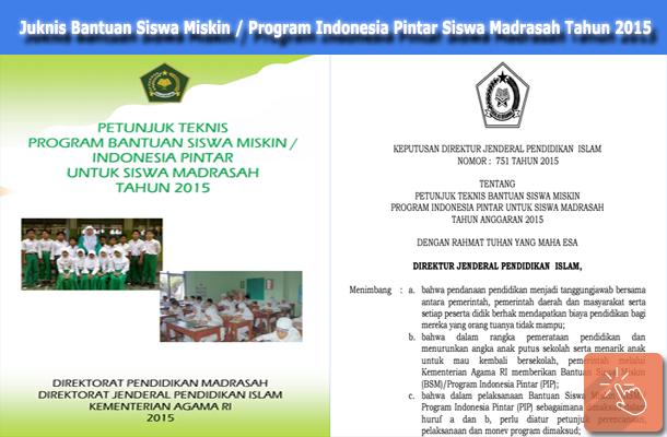 Juknis BSM PIP Siswa Madrasah Tahun Anggaran 2015
