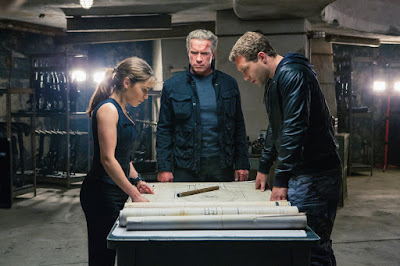 Emilia Clarke, Arnold Scwarzenegger, and Jai Courtney in Terminator: Genisys