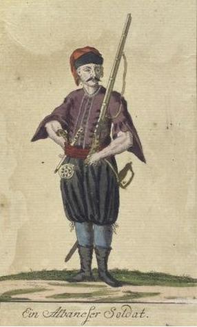 Ein Albaneser Soldat