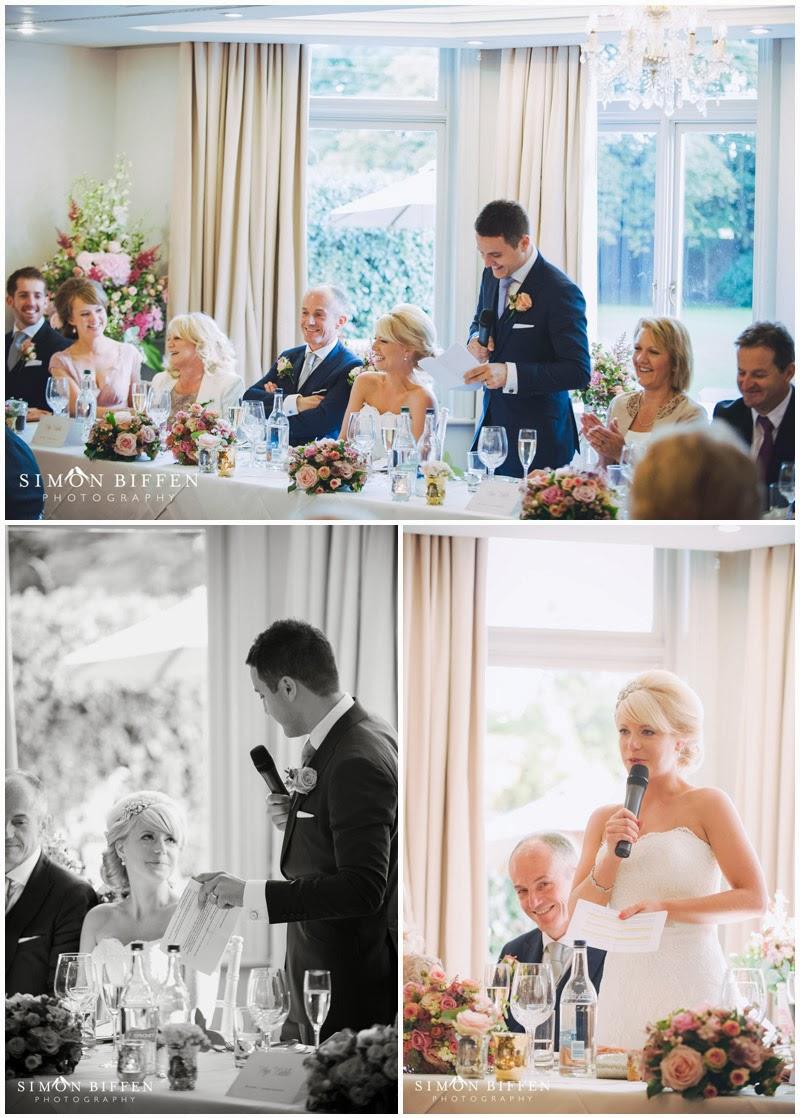 Wedding speeches photography