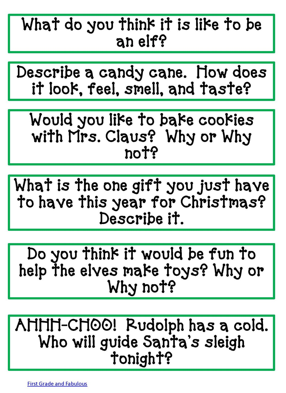 Classroom Writing Ideas : Classroom freebies here comes santa claus