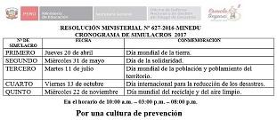 SIMULACROS DE SISMO 2017
