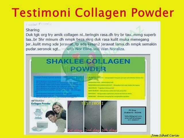 Collagen Powder, Testimoni Collagen Powder,