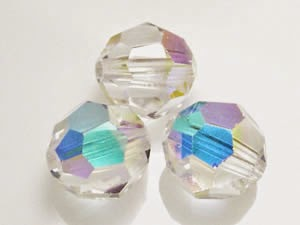 Swarovski Crystal Elements Round Bead 8mm Crystal AB