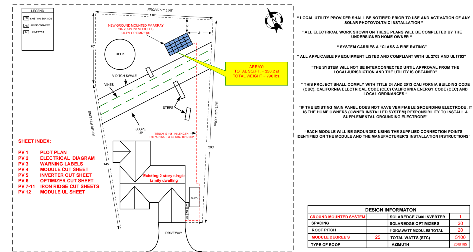 Ground Mount Solar Diy Electrical Grounding Plan Layout For The Array From Gogreensolarcom