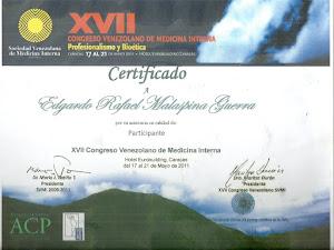 XVII CONGRESO VENEZOLANO DE MEDICINA INTERNA