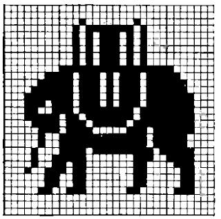 Patron elefante en punto de cruz