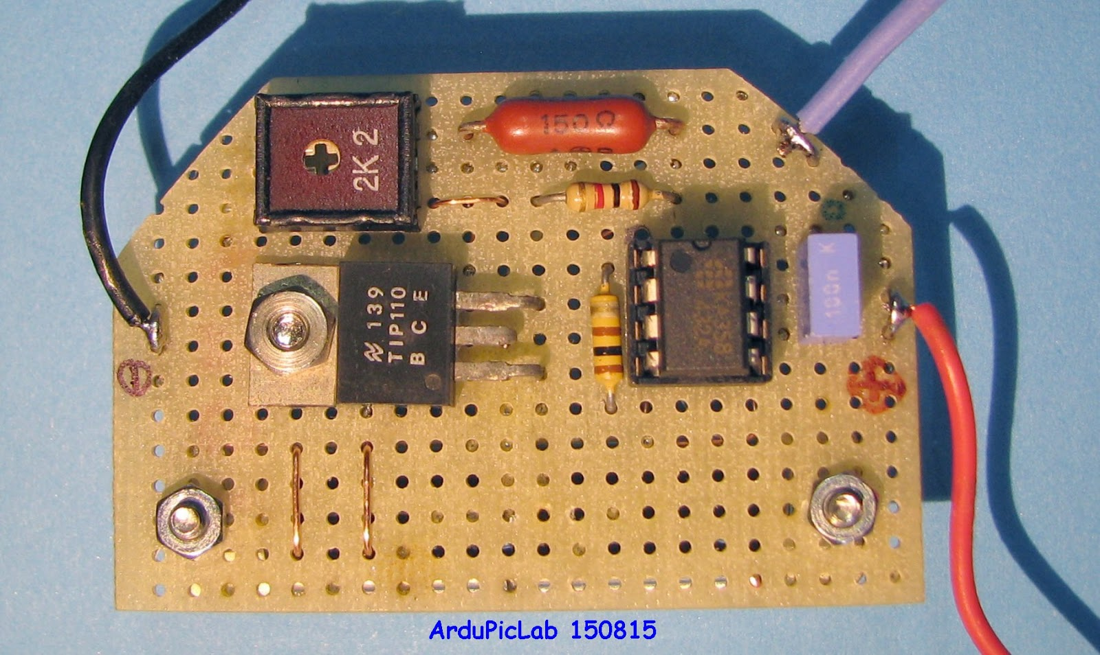 Ardupiclab August 2015 The Figure Shows Connections For Db25 Connectors Use Table To Test Circuit I Wrote A Simple Program That Sends Dac0 Of Arduino Due Values N According 051210242048307235844095