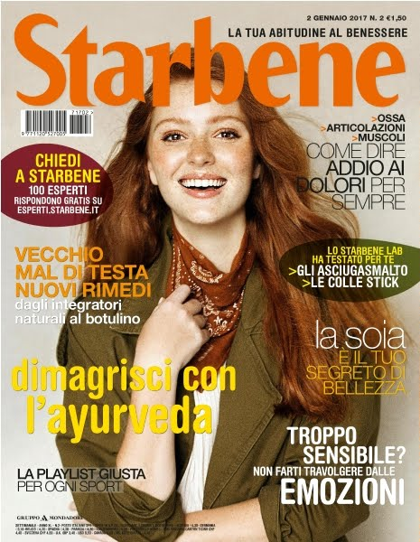 """Intervista sul settimanale """"Starbene"""" n°2 del 2/01/2017"""