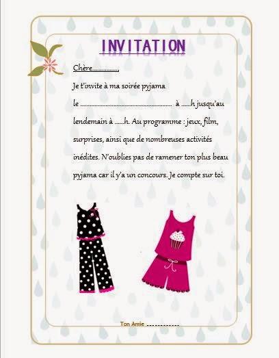 Carte pour soir e pyjama - Organiser une soiree romantique ...