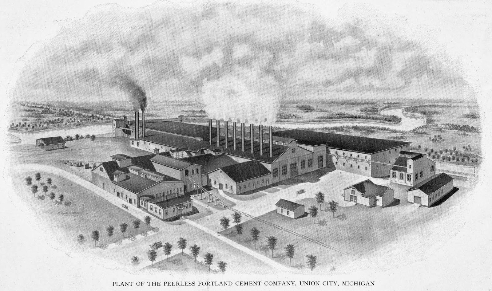 Cement City Michigan Cement Plant : Old union city postcards and pictures peerless