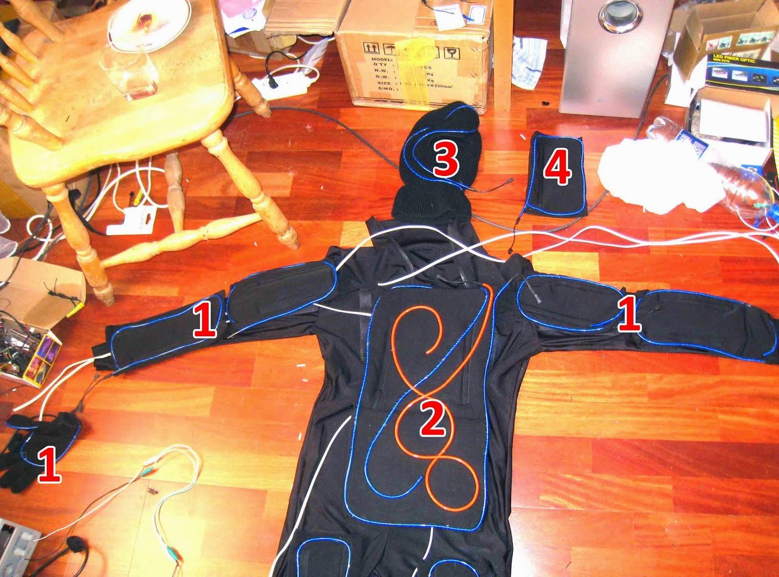 Светящиеся костюмы своими руками 545