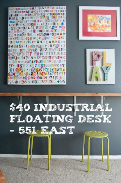 DIY Floating Desk