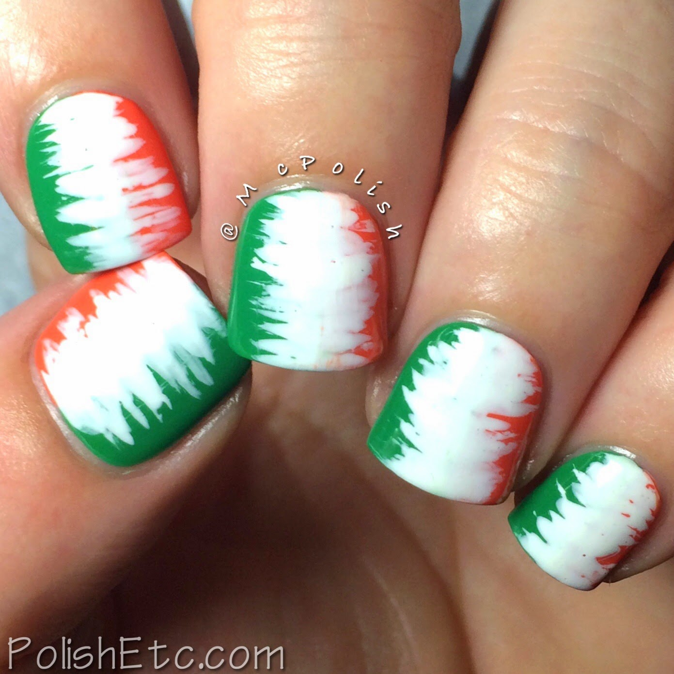 31 Day Nail Art Challenge -#31dc2014 - McPolish - FLAG
