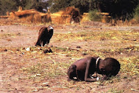 Pulitzer prize - Sudanese child being stalked by a vulture