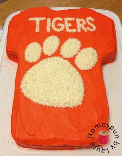 clemson football jersey birthday cake
