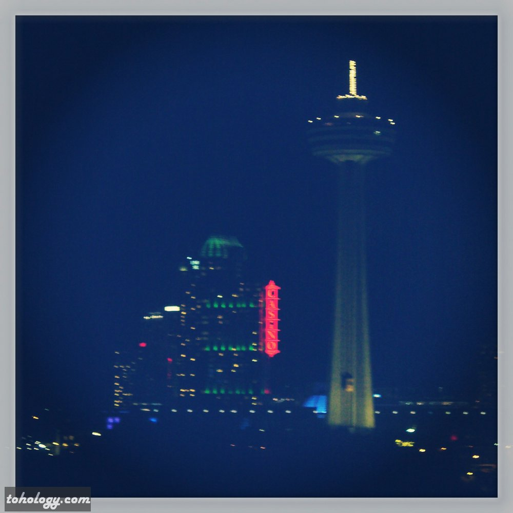 Niagara Falls downtown area in the night