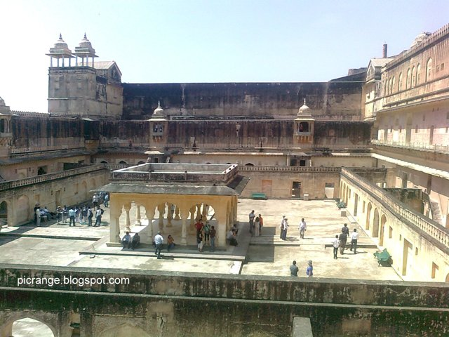 Inside view of amer fort