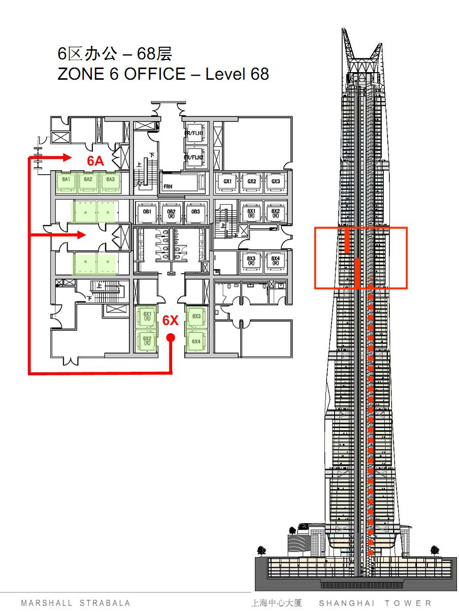 Modern cabinet shanghai tower elevator system drawings for Elevator plan