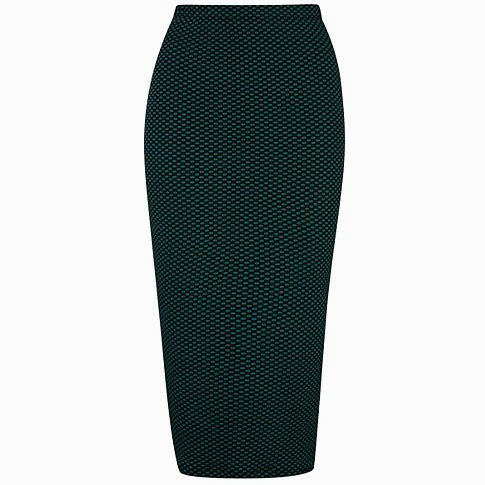 spotty midi skirt