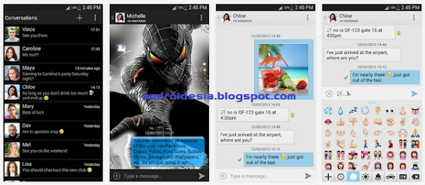 chomp SMS - Aplikasi SMS android Gratis