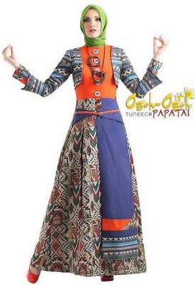 Model baju muslim variasi batik keren image