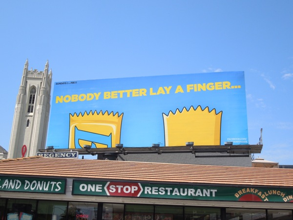 Butterfinger Bart Simpson billboard