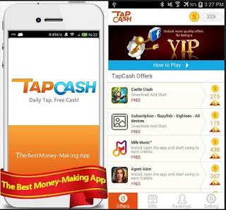 aplikasi android penghasil uang tap cash rewards