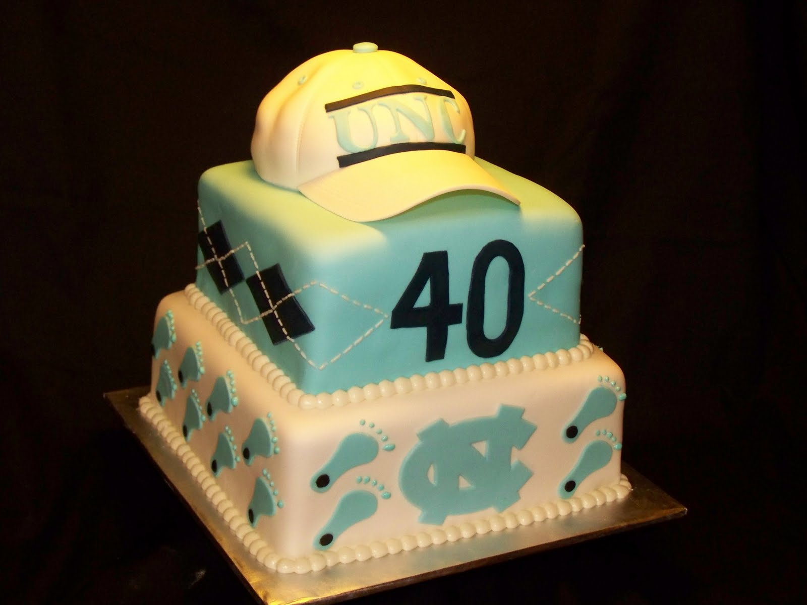 Cakes By Kristen H Unc Tarheels 40th Birthday Cake