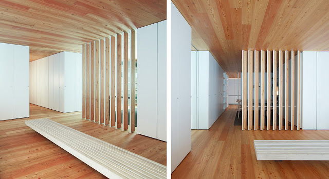 Casa cp la calidez del alerce espacios en madera - Madera para pared interior ...