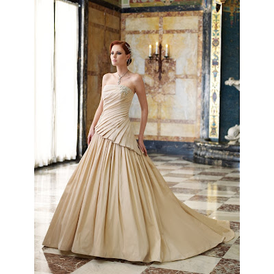The Champagne Colored Of Wedding Gowns Is As Essential As Its Style